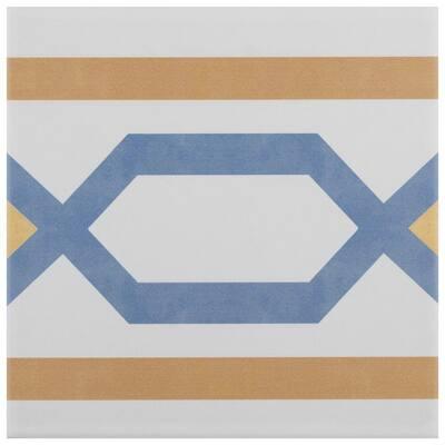 Revival Frame Encaustic 7-3/4 in. x 7-3/4 in. Ceramic Floor and Wall Tile