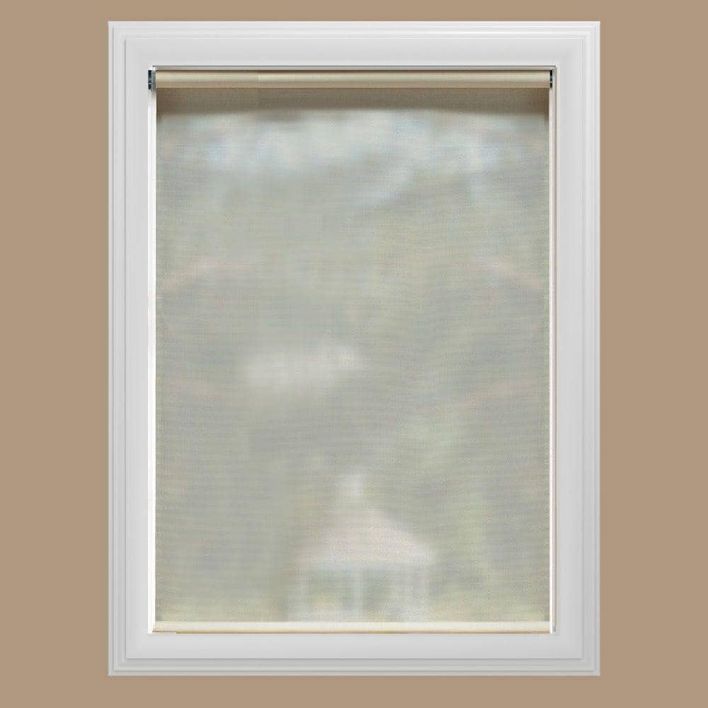 W Cut-To-Size White Cordless Uv Blocking Fade Resistant Roller Shades 73.25 In