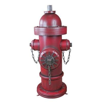 41.5 in. H Vintage Metal Fire Hydrant Grand Garden Statue