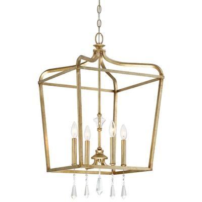 Laurel Estate 4-Light Brio Gold Pendant