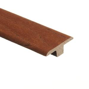 Ash Gunstock/Oak Honey Parquet 3/8 in. Thick x 1-3/4 in. Wide x 94 in. Length Hardwood T-Molding