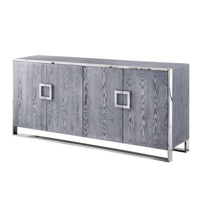 Ulani Ash Grey Sideboard 4-Doors