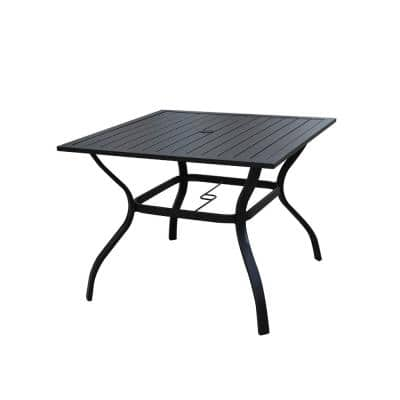 Square Metal Outdoor Dining Table
