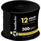 500 ft. 12 Black Solid CU THHN Wire