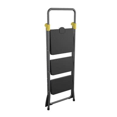 3-Step Commercial Steel Folding Step Stool