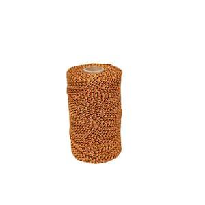 685 ft. Super Tough Bonded Braided Nylon Line Orange, Black and Gold