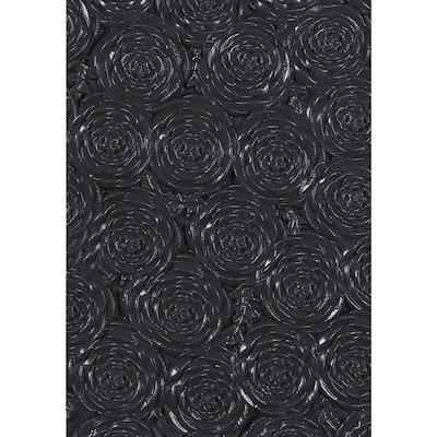 RoseFlower Black Vinyl Peelable Roll (Covers 108 sq. ft.)