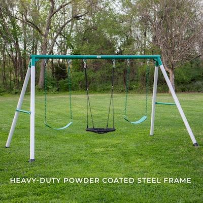 Little Brutus Heavy-Duty Metal A-Frame Swing Set