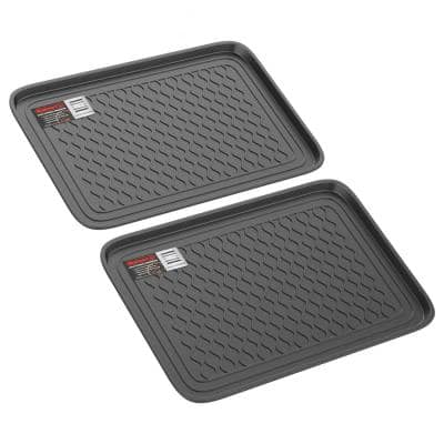 15.75 in. x 23.75 in. All-Weather Utility Boot Tray (2-Pack)