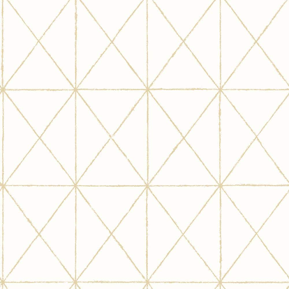 A Street Prints Intersection Gold Geometric Paper Strippable Roll Wallpaper Covers 56 4 Sq Ft 2697 78002 The Home Depot
