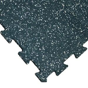ReUz 0.24 in. T x 1.6 ft. W x 1.6 ft. L Tan/White Speckle Rubber Flooring Tiles (44 sq. ft.) (16-Pack)