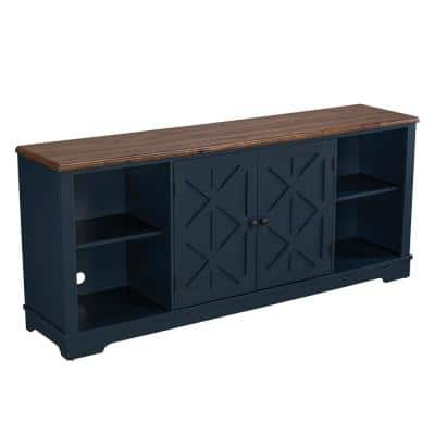 70 in. Navy TV Stand for TVs Upto 78 in.