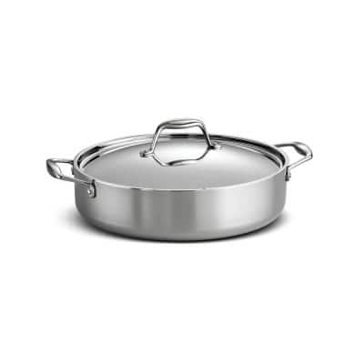 Gourmet Tri-Ply Clad 6 qt. Covered Stainless Steel Braiser