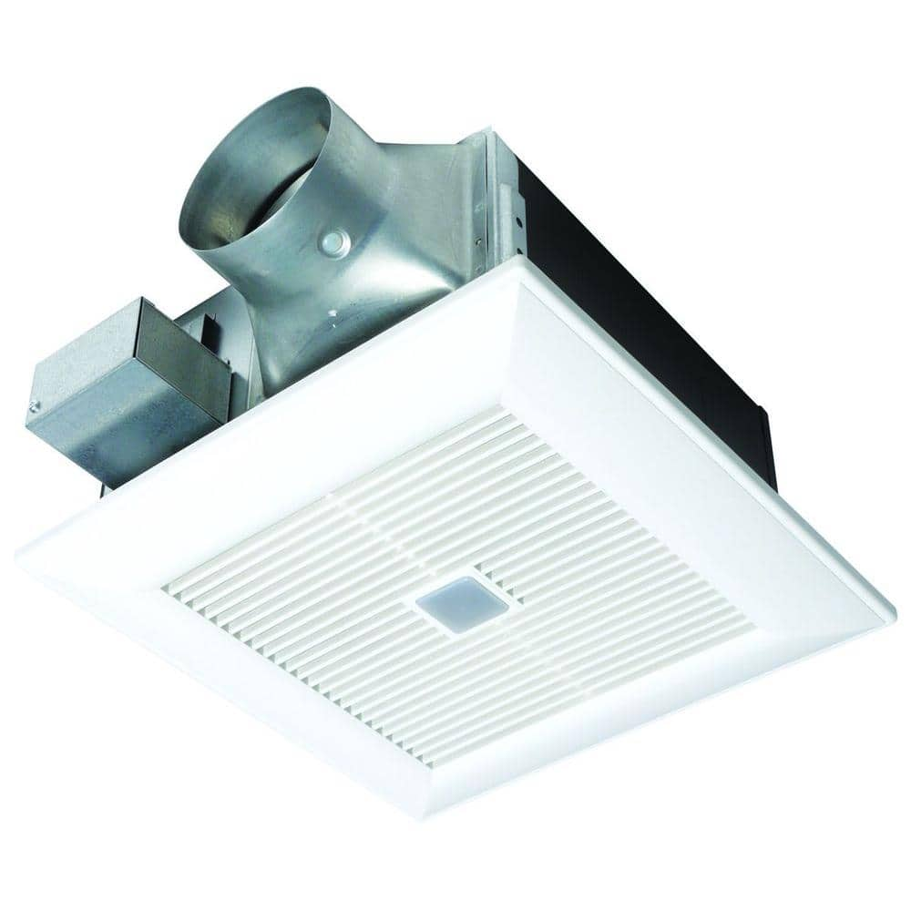 Panasonic Quiet 80 Or 110 Cfm Ceiling Dual Speed Exhaust Fan With Motion Sensor Fv 08 11vfm5 The Home Depot