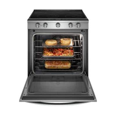6.4 cu. ft. Smart Slide-In Electric Range with Scan-to-Cook Technology in Fingerprint Resistant Stainless Steel