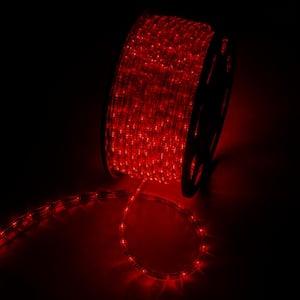 Outdoor 150 ft. 110-Volt Plug-In Red Color Changing Light LED Rope Light
