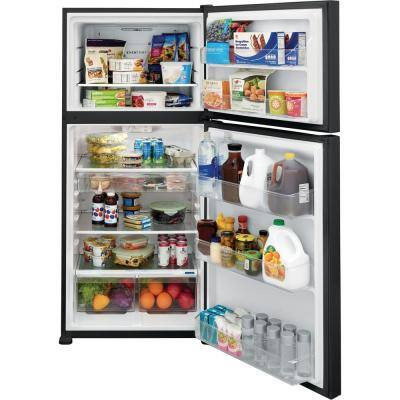 20.0 cu. ft. Top Freezer Refrigerator in Black