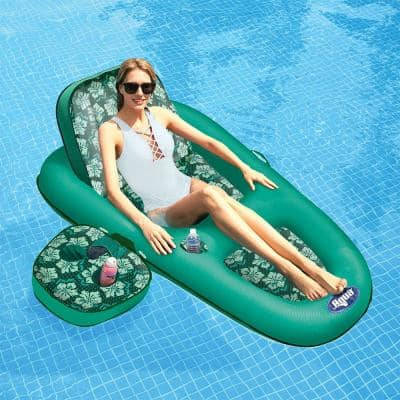 Campania 2-in-1 Convertible Water Lounger Pool Inflatable, Floral