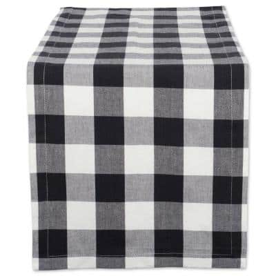Black Buffalo Check Cotton Table Runner