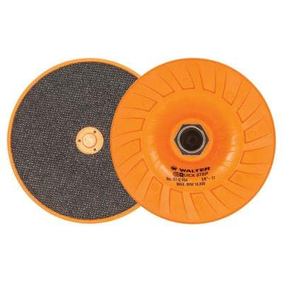 Quick-Step 5 in. x 5/8 in. to 11 in. Velcro Backing Pad with Centering Pin