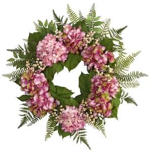 24 in. Hydrangea Berry Wreath