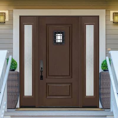 Regency Textured Panel Customizable Fiberglass Door Collection