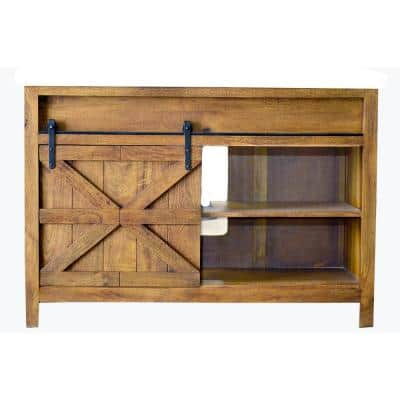 48 in. W x 22 in. D Bath Vanity Cabinet Only in Natural Wood