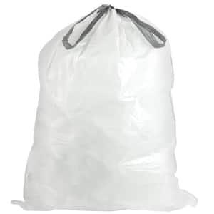 24 in. W x 31 in. H 13 Gal. 1.2 mil White Flat Seal Low Density Drawstring Bags (200-Case)