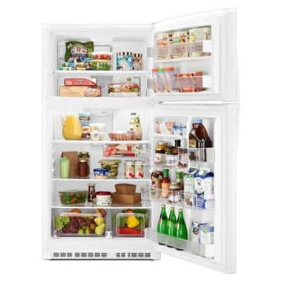 21.3 cu. ft. Top Freezer Refrigerator in White