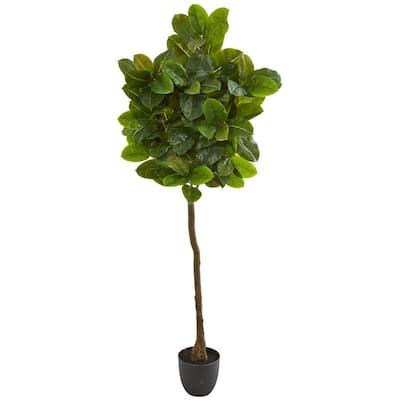 Indoor 6 in. Rubber Leaf Artificial Tree