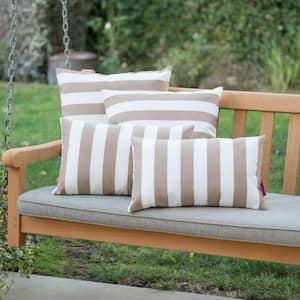 Coronado Brown Outdoor Throw Pillow (4-Pack)