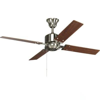 Clifton Heights 52 in. Indoor Brushed Nickel Modern Ceiling Fan