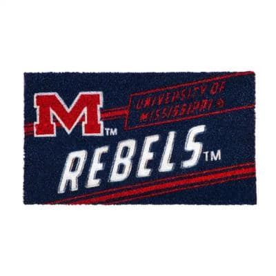 16 in. x 28 in. Ole Miss Coir Punch Mat