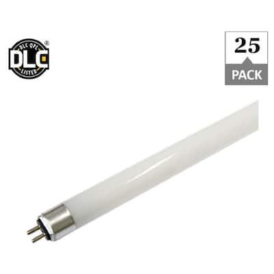 25-Watt 5000K 54-Watt Equivalent Plug and Play 46 in. Linear T5 LED Tube Light Bulb (25-Pack)