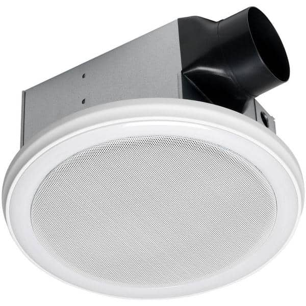 Home Netwerks Decorative White 110 Cfm Ceiling Mount Bluetooth Stereo Speakers Bathroom Exhaust Fan With Led Light 7130 16 Bt The Home Depot