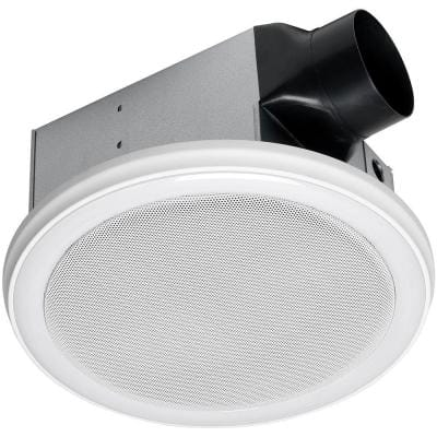 110 CFM Ceiling Mount Bathroom Exhaust Fan with Bluetooth Speakers and LED Light