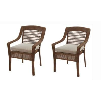 Beverly 18 x 18 Outdoor Dining Chair Replacement Cushion in Beige (2-Pack)