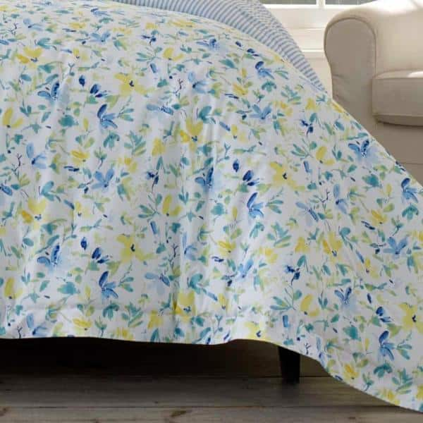 Laura Ashley Nora 3 Piece Bright Blue, Laura Ashley Bedding Blue And Yellow