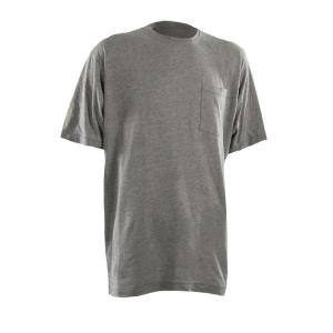 Berne Men S Xx Large Regular Grey Cotton And Polyester Heavy Weight Long Sleeve Pocket T Shirt Bsm32gyr520 The Home Depot