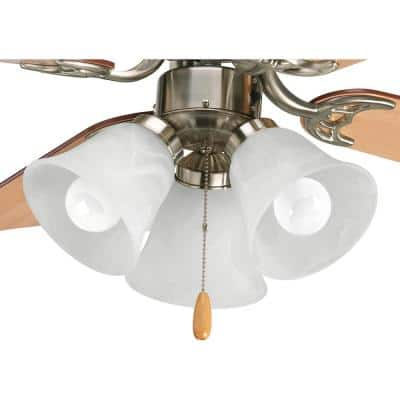 Fan Light Kits Collection 3-Light Brushed Nickel Ceiling Fan Light Kit