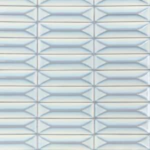 Vintage Blue 3D 2.5 in. x 9 in. Polished Ceramic Wall Tile (6.15 sq. ft. / Case)