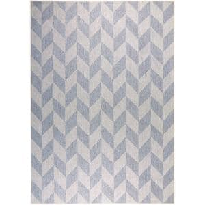 Patio Country Calla Blue/Gray 5 ft. x 7 ft. Indoor/Outdoor Area Rug