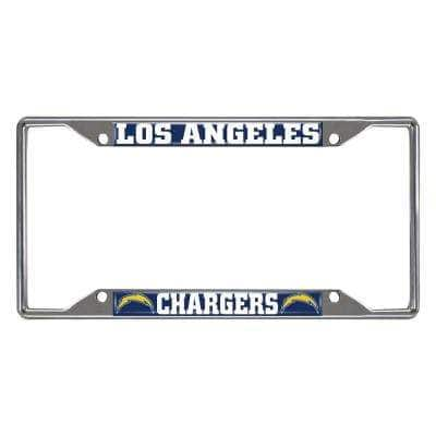NFL - Los Angeles Chargers Chromed Stainless Steel License Plate Frame