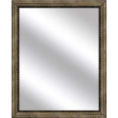 Medium Rectangle Medium Champagne Art Deco Mirror (30.75 in. H x 24.75 in. W)
