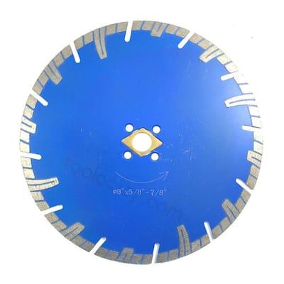 8 in. Turbo Diamond Blade Segmented for Dry/Wet Use