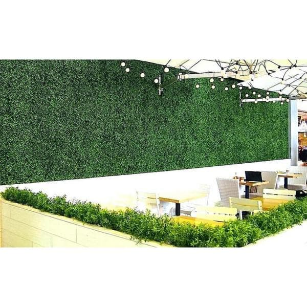 Ejoy 20 In H X 20 In W Gorgeoushome Artificial Boxwood Hedge Greenery Panels Milan 12 Pc Milan 12pc The Home Depot