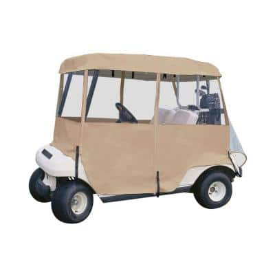 Deluxe 4-Sided Golf Car Enclosure, 2-Person