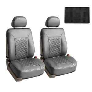 Deluxe Faux Leather 47 in. x 23 in. x 1 in. Diamond Pattern Car Seat Cushions