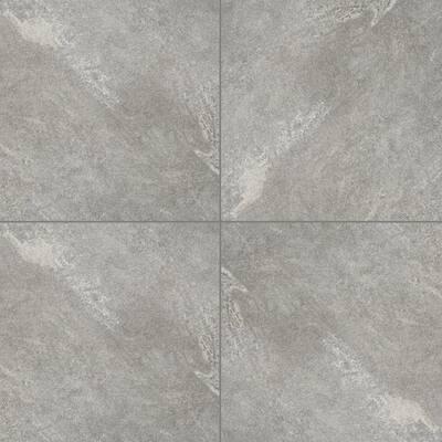 Quarzo Gray 24 in. x 24 in. Matte Porcelain Paver Floor Tile (14-Pieces/56 sq. ft./pallet)