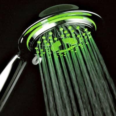 4-Spray Setting LED Handheld Shower in Chrome